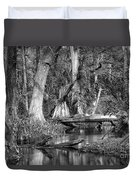 Loxahatchee Black And White Duvet Cover