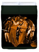 Ls Spo #68 Enhanced In Amber Fisheye Duvet Cover