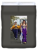 Lsu Marching Band 5 Duvet Cover by Steve Harrington