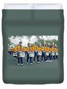 Lsu Marching Band Duvet Cover by Steve Harrington