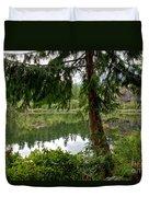 Lush Green At Starvation Lake Duvet Cover