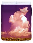 Lubriano, Italy, Infrared Photo Duvet Cover