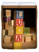 Lucas - Alphabet Blocks Duvet Cover