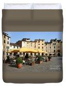 Lucca Piazza Del Mercato  Duvet Cover