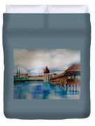 Lucerne Bridge Duvet Cover