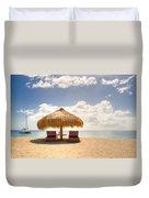 Lucian Beach Hut Duvet Cover