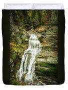 Lucifer Falls Treman Park Duvet Cover