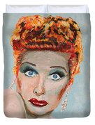 Lucille Ball Portrait Duvet Cover