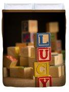 Lucy - Alphabet Blocks Duvet Cover