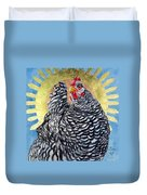 Lucy In The Sky - Celestial Chicken Duvet Cover
