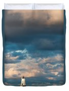 Ludington North Breakwater Lighthouse At Sunrise Duvet Cover