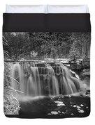 Ludlowville Falls In Winter I Duvet Cover
