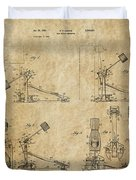 Ludwig Drum Pedal 3 Patent Art 1951 Duvet Cover