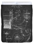 Ludwig Foot Pedal Patent Drawing From 1909 - Dark Duvet Cover