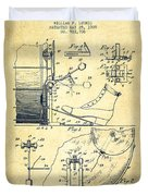 Ludwig Foot Pedal Patent Drawing From 1909 - Vintage Duvet Cover