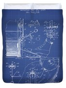 Ludwig Foot Pedal Patent From 1909 - Blueprint Duvet Cover
