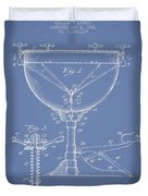 Ludwig Kettle Drum Drum Patent Drawing From 1941 - Light Blue Duvet Cover