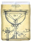 Ludwig Kettle Drum Drum Patent Drawing From 1941 - Vintage Duvet Cover