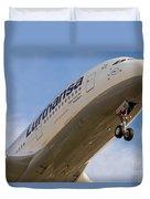 Lufthansa Airbus A-380 Duvet Cover