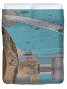 Lug Nut Wheel Left Turquoise And Copper Duvet Cover