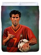 Luis Figo Duvet Cover by Paul Meijering