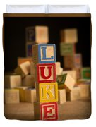 Luke - Alphabet Blocks Duvet Cover