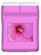 Luminescent In Pink Duvet Cover