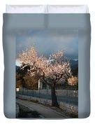Luminous Almond Tree Duvet Cover