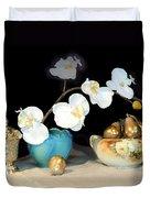 Luminous Watercolor Orchids Duvet Cover
