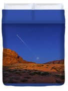 Lunar Eclipse Sequence From Monument Duvet Cover
