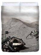 Lunar Vehicle In Distress Duvet Cover