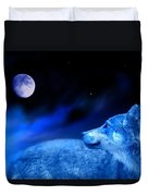 Lunar Wolf 2 Duvet Cover