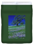 Lupine And The Leaning Tree Duvet Cover