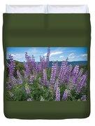 Lupine Blooms Of Bald Hills Duvet Cover