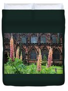 Lupines At Chester Cathedral 6805 Duvet Cover
