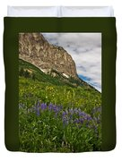 Lupines On The Hillside Duvet Cover