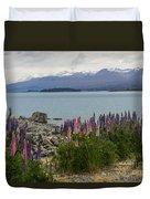Lupins By Lake Tekapo Duvet Cover