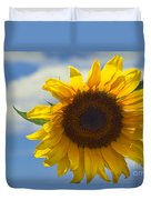 Lus Na Greine - Sunflower On Blue Sky Duvet Cover