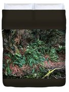 Lush Ferns Of The Forest Duvet Cover