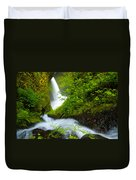 Lush Gorge Falls Duvet Cover