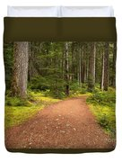 Lush Green Forest At Cheakamus Duvet Cover