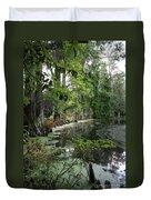 Lush Swamp Vegetation Duvet Cover