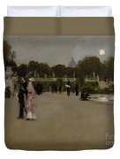 Luxembourg Gardens At Twilight Duvet Cover