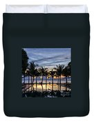 Luxury Infinity Pool At Sunset Duvet Cover