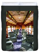 Luxury Lounge Car Of Early Railroading Duvet Cover