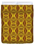 Luxury Red And Gold Christmas Kaleidoscope Duvet Cover