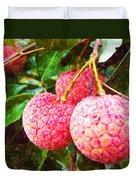 Lychee Fruit  Duvet Cover