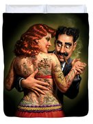 Lydia The Tattooed Lady Duvet Cover