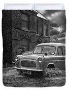 Lye Rain Storm, Ford Prefect Van - 1960's    Ref-244 Duvet Cover