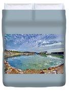 Lyme Regis Harbour -- Painterly Duvet Cover